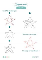 dessin etoile de mer