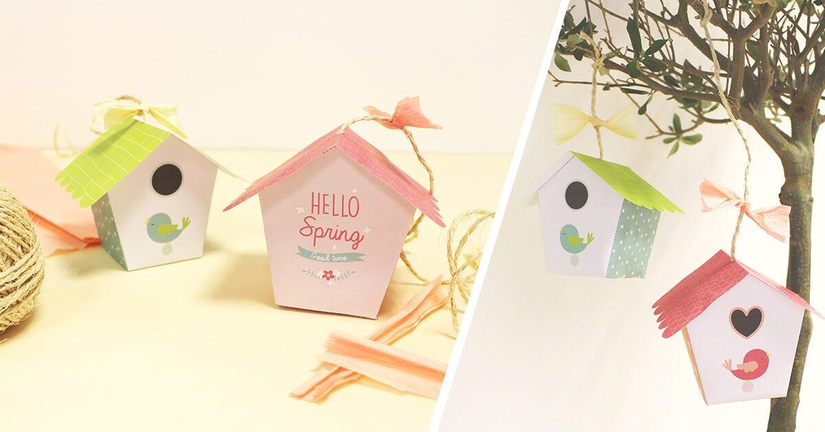 Fabriquez une jolie cabane oiseau en papier pour d corer - Comment faire une cabane dans sa chambre ...
