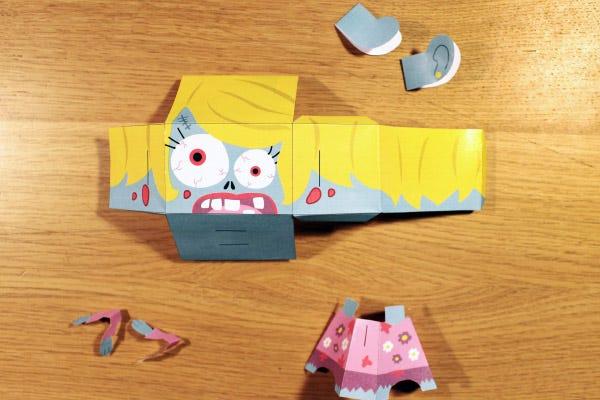 DIY paper toy halloween