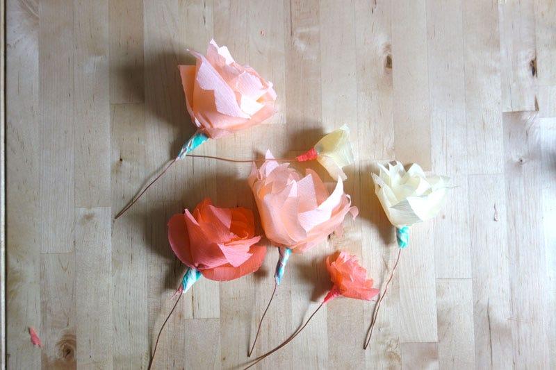 DIY Couronne Fleurs