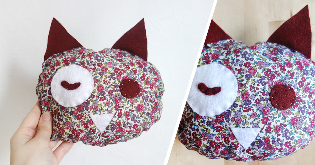 DIY coussin chat