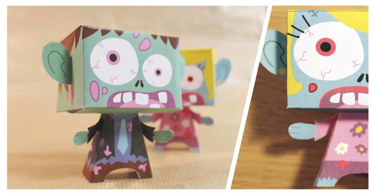 DIY paper toy halloween