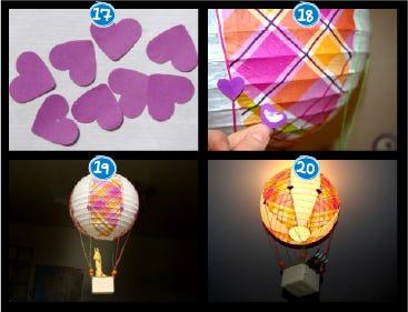 montgolfière lustre enfant