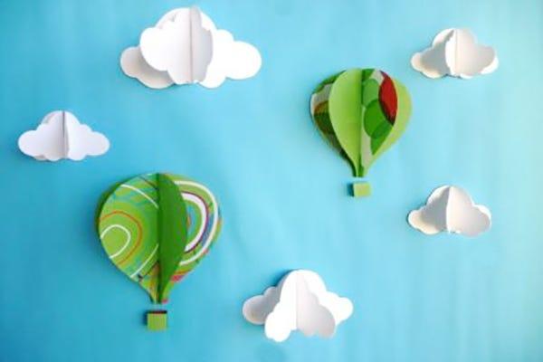 montgolfière atelier enfant DIY