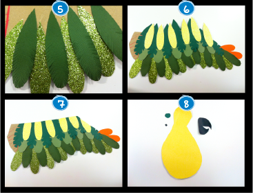 diy perroquet décoration enfant