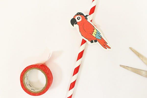 DIY décoration pailles anniversaire