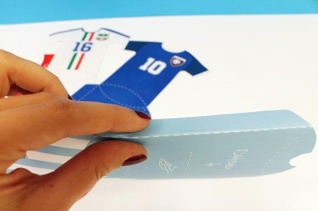DIY carte anniversaire football