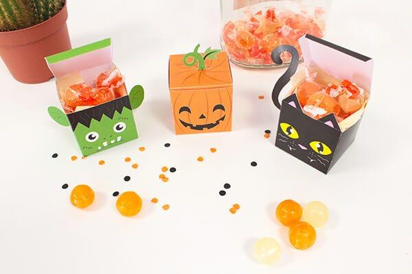 Boîte bonbons halloween
