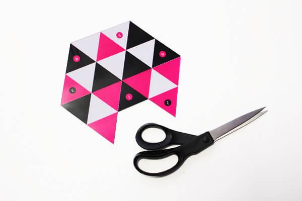 Printable boîte origami