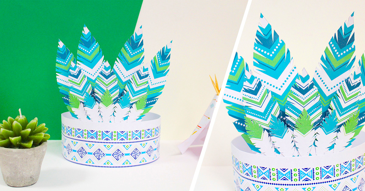 Printable couronne indien