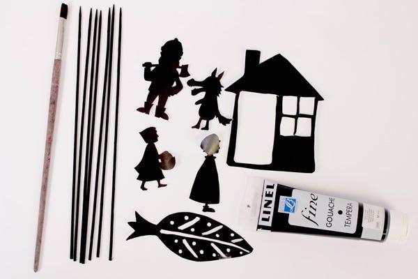 Théâtre d'ombres diy pour enfants