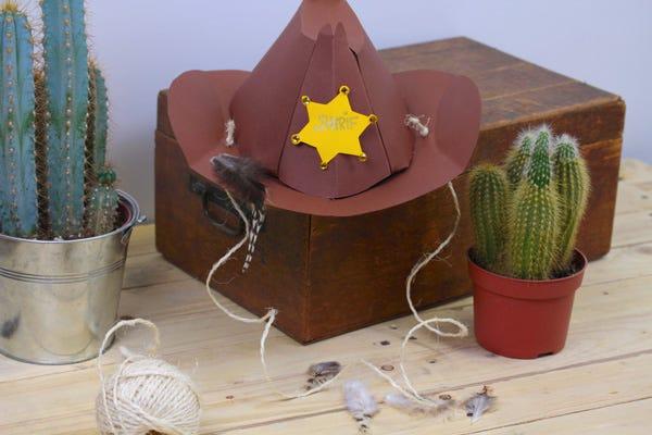 DIY gabarit chapeau cowboy shérif