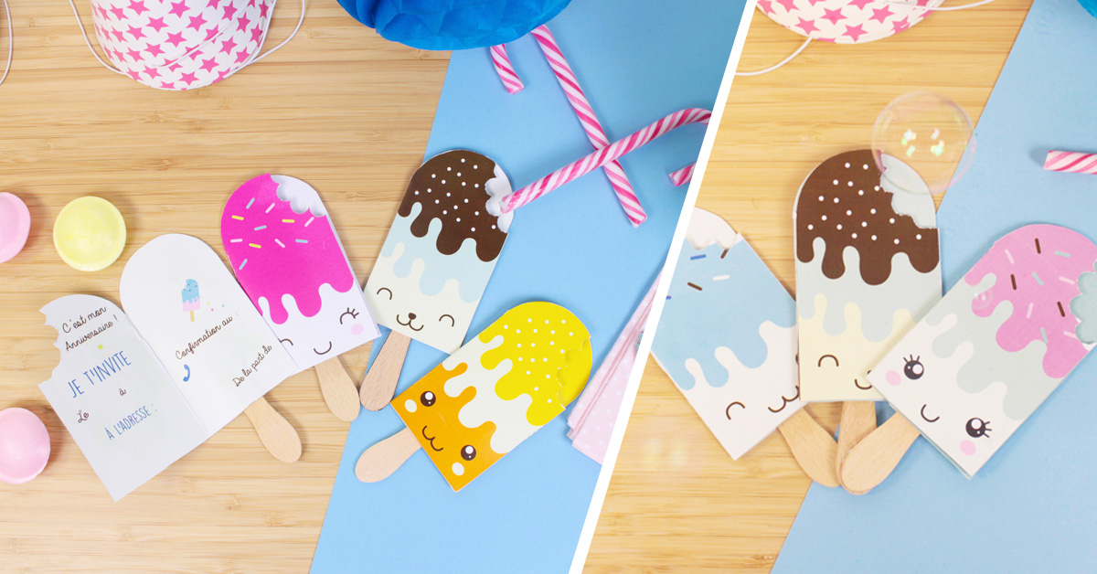 DIY invitation anniversaire kawaii
