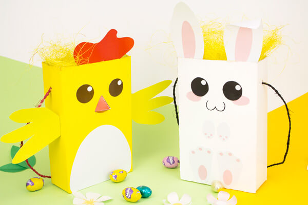 Sacs de Pâques lapins et poule