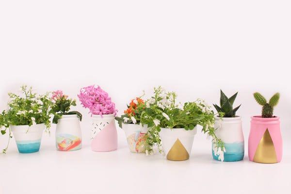 DIY pots de fleurs