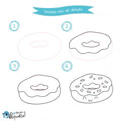Dessin et coloriage de donut