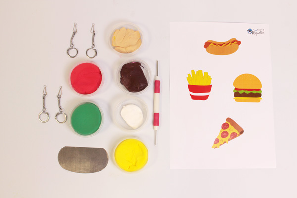 DIY porte-clés hamburger
