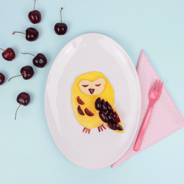 Fun food idée goûter fruit - hibou