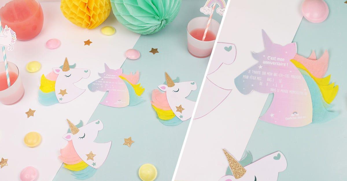 Atelier DIY Invitations licorne