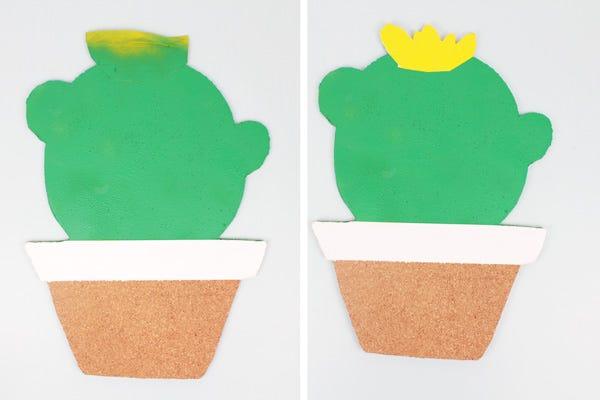 DIY Pêle-Mêle photo en liège cactus