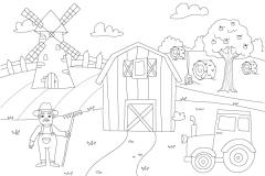 Dessine-moi la campagne - dessins et coloriages