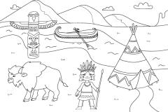 Dessine-moi les indiens - dessins et coloriages indiens d'Amérique