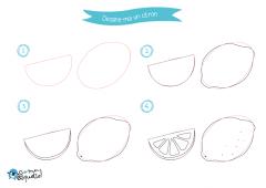 Dessine-moi les fruits : dessins et coloriages de fruits estivaux