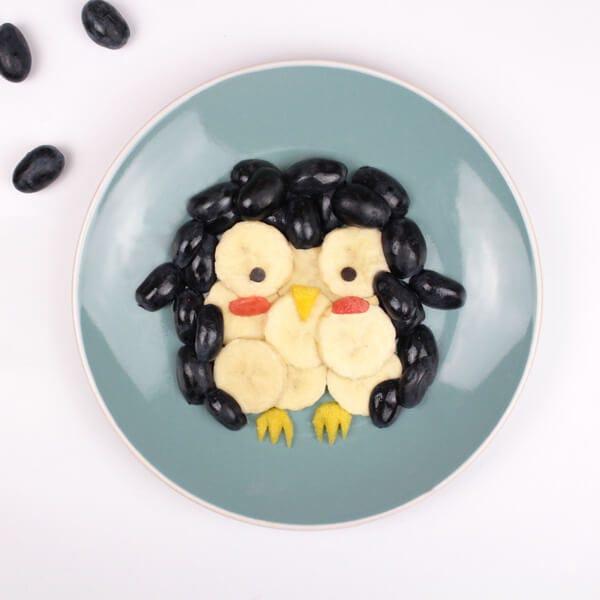 Funfood pingouin en fruits goûter