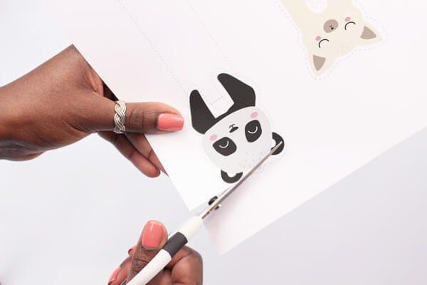 Tuto DIY printable de marques-page animaux