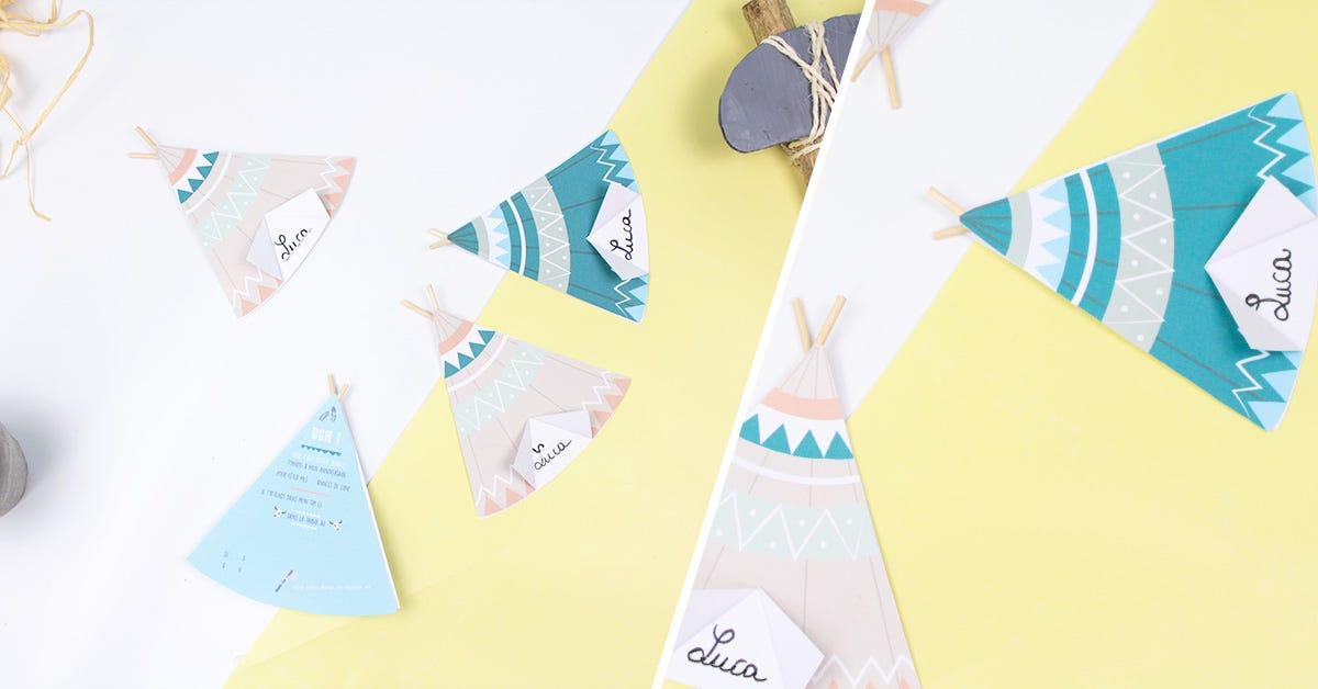 DIY atelier de cartes d'anniversaire tipi