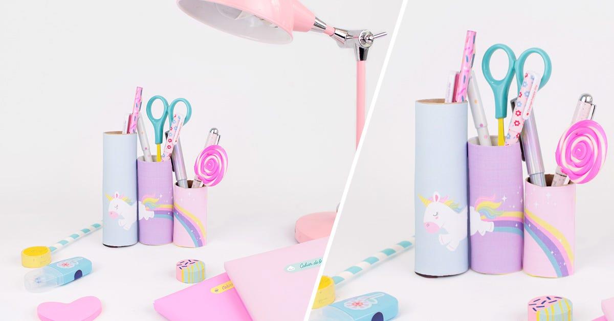 Atelier DIY pots à crayons super-héros et licornes