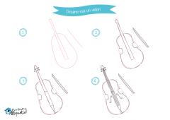 Dessins et coloriages d'instruments de musique