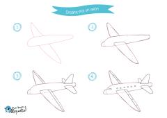 Dessins de véhicules de transports aériens