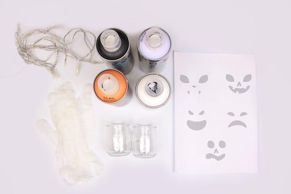 Atelier DIY fabrication de photophores d'Halloween de récup