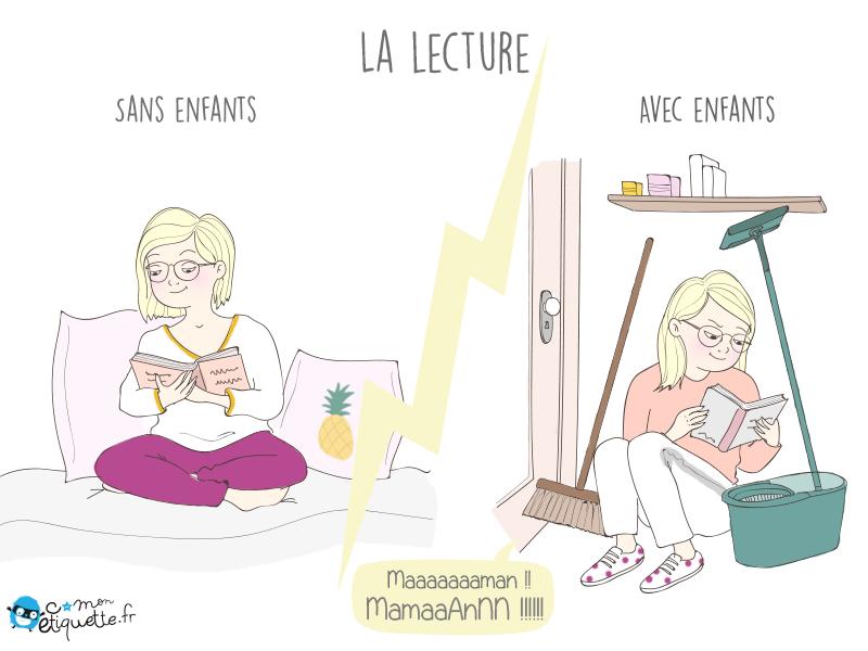 Humour vie de parent : la lecture de maman