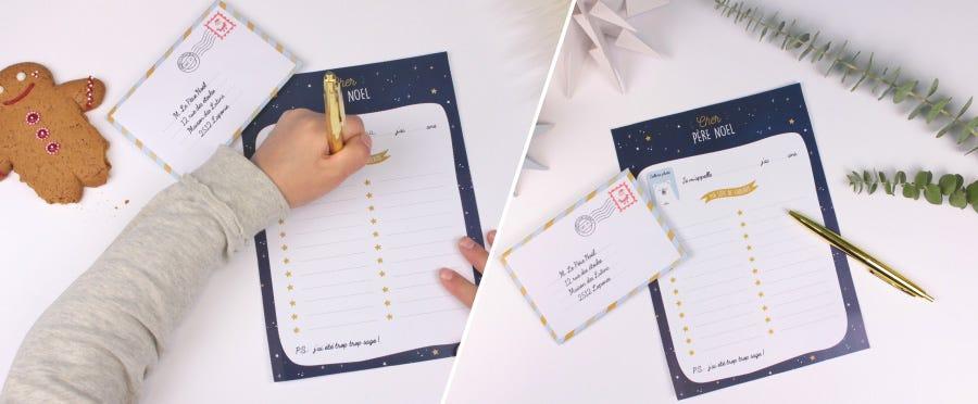 DIY lettre au père Noel