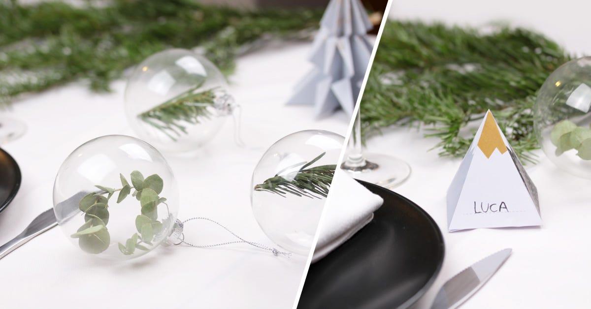 DIY Décorations table Noel