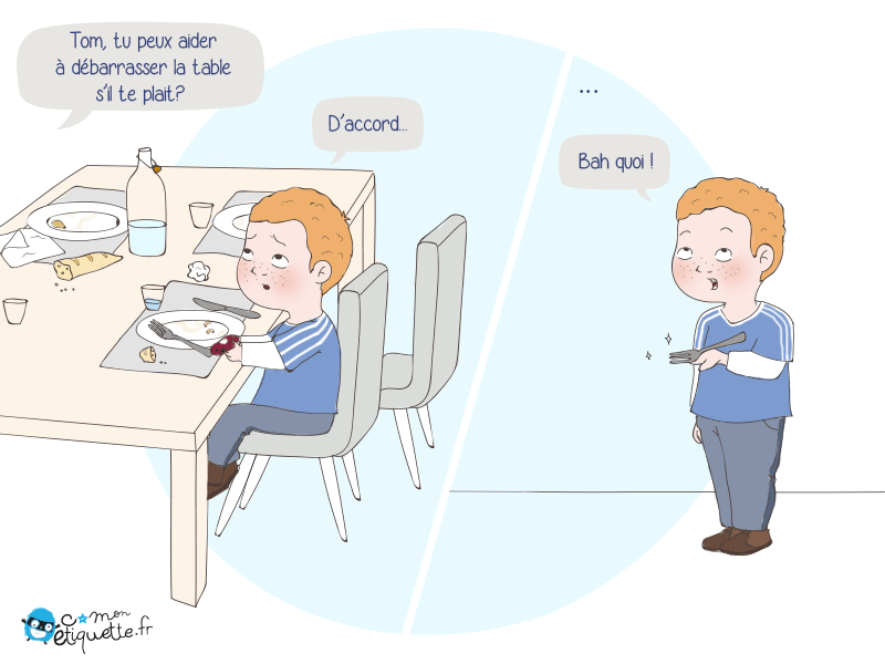 D barrasser la table i humour c monetiquette - Debarrasser la table en anglais ...