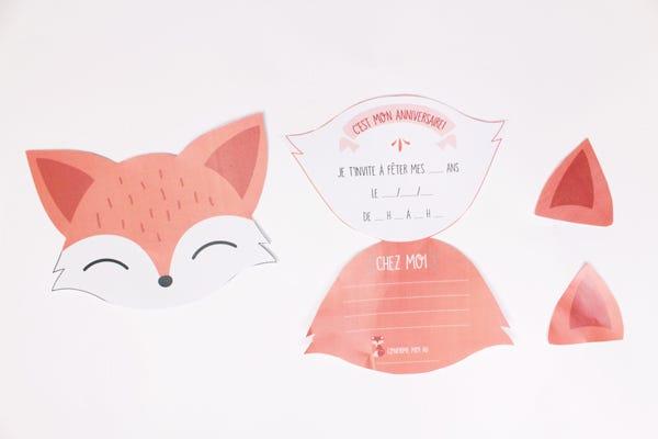 DIY carte anniversaire renard