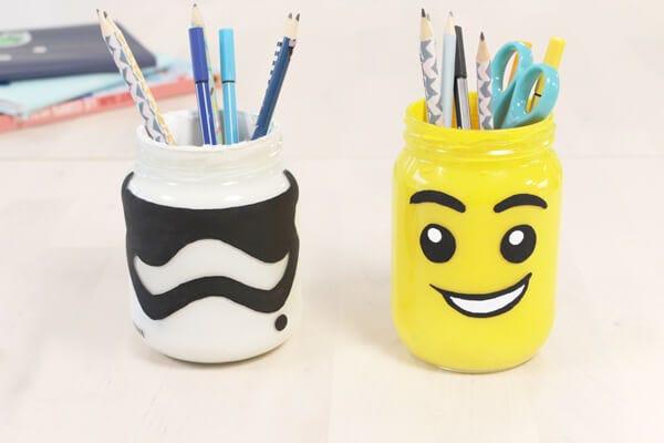 Pot à crayon lego DIY