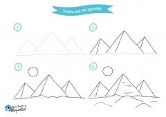 Dessine-moi l'Egypte - dessins et coloriages Pyramides