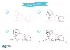 Dessine-moi l'Egypte - dessins et coloriages Sphinx