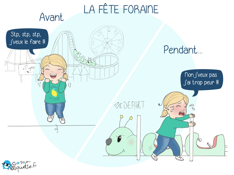 Humour parents enfants : la fete foraine