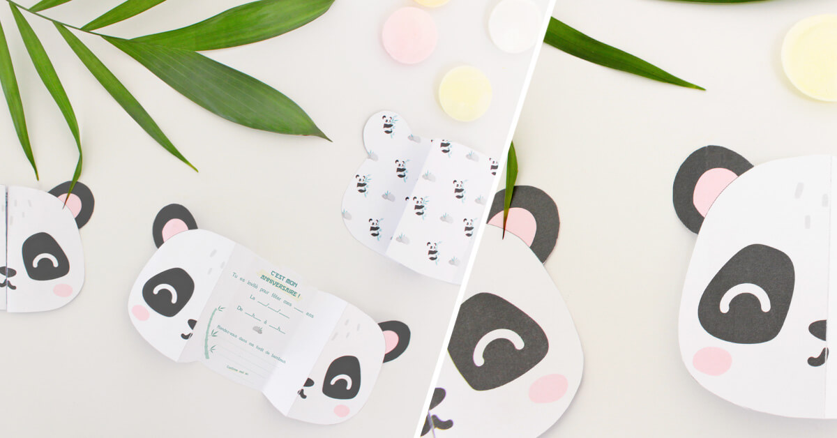 DIY invitation panda -une