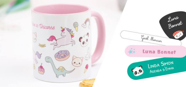 DIY invitation panda - produits
