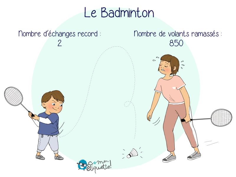 Faire du badminton une fois parent