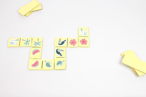 Atelier enfant DIY dominos