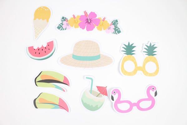 Des accessoires fun à fabriquer pour vos photobooth de l'été !