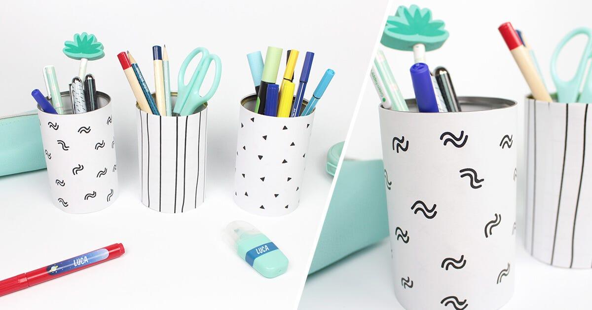 pot crayon motif graphique diy c monetiquette. Black Bedroom Furniture Sets. Home Design Ideas