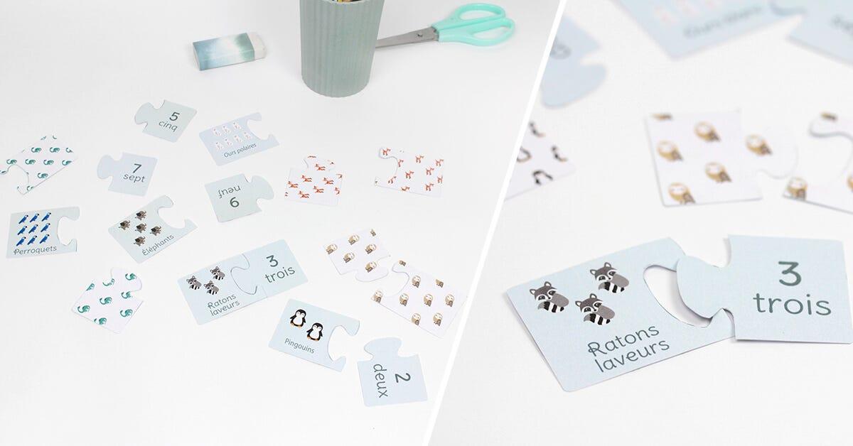 Réalisez facilement ce jeu de puzzle animaux